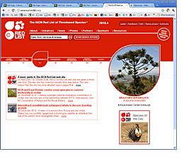 IUCN Red List Website